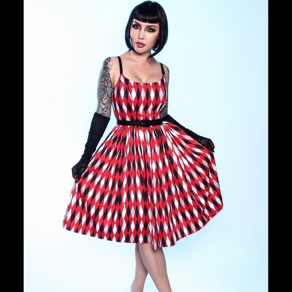 abafeddb258be Pinup Girl Clothing Dresses | Pinup Couture Jenny Dress In Bad Girl ...